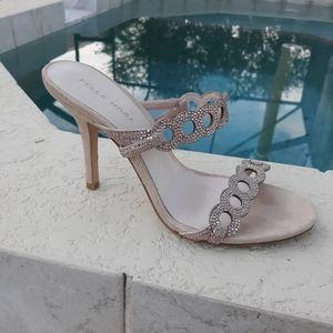 PELLE MODA Rose Gold Jewelled Heels Sandal